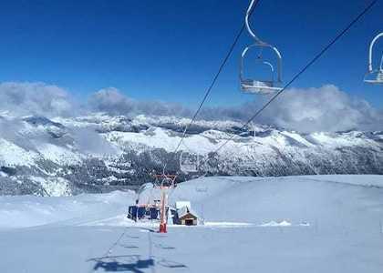 Paquetón de nieve cae en nevados de Chillán