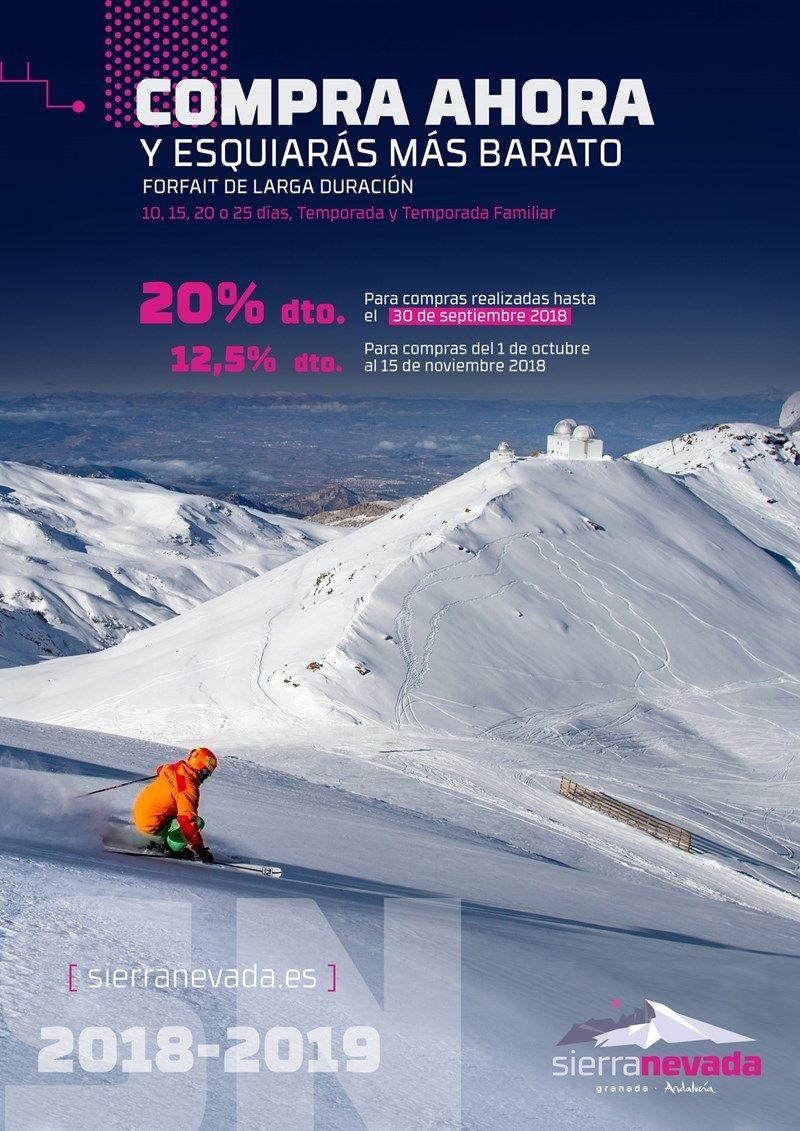 Campaña de forfait de temporada en Sierra Nevada
