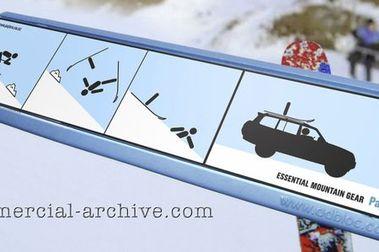 Anuncio de Mitsubishi en un telesilla