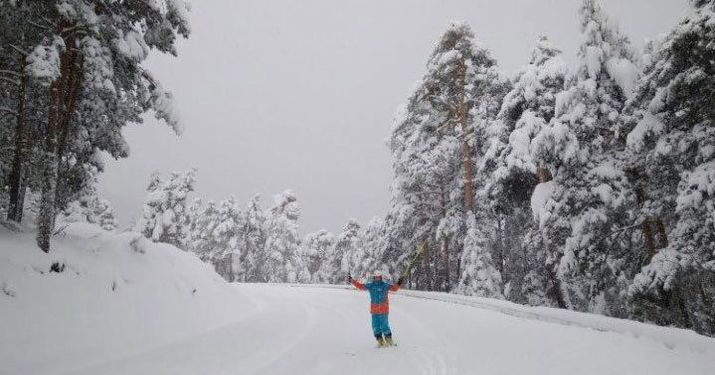 Nevadón a 57 kilómetros de Madrid