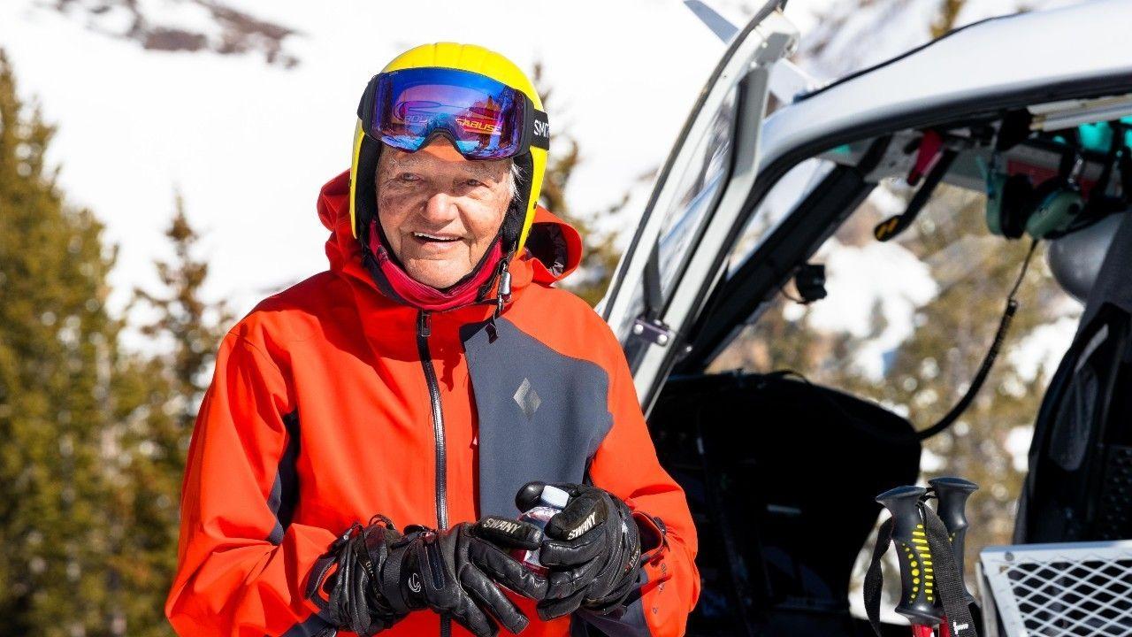 Junior Bounous: tiene el récord de persona de más edad que ha hecho heli-ski