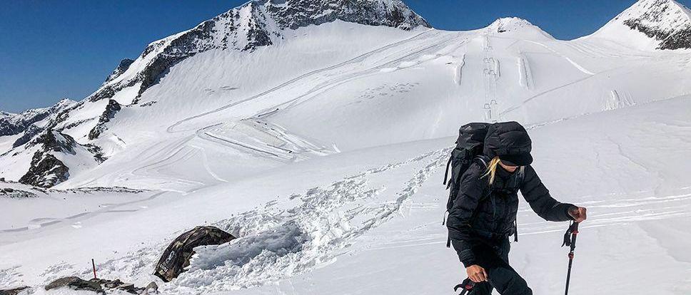Acampar en un glaciar para ti solo, Hintertux 6 de Mayo.