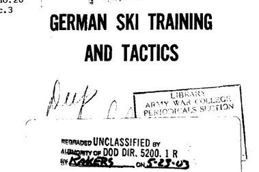 German ski trops, training and tactics.