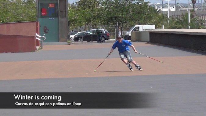 Refl. técnicas: Curva base de esquí sobre patines en línea [Vídeo]