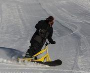 Snowscoot, el último deporte de invierno que es furor en Bariloche