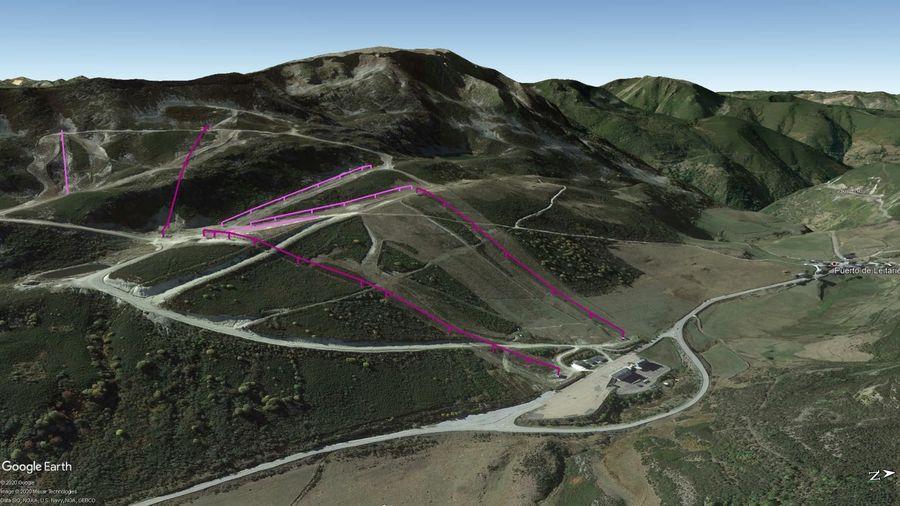 Vista Google Earth Leitariegos Temporada 2020/21