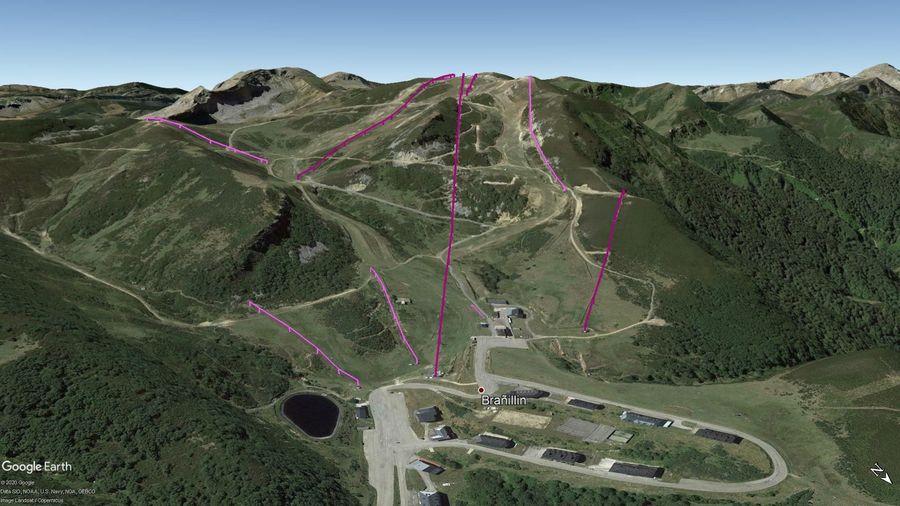 Vista Google Earth Valgrande Pajares Temporada 2020/21
