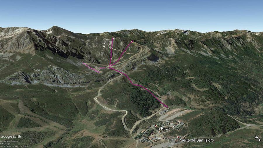 Vista Google Earth Fuentes de Invierno Temporada 2020/21
