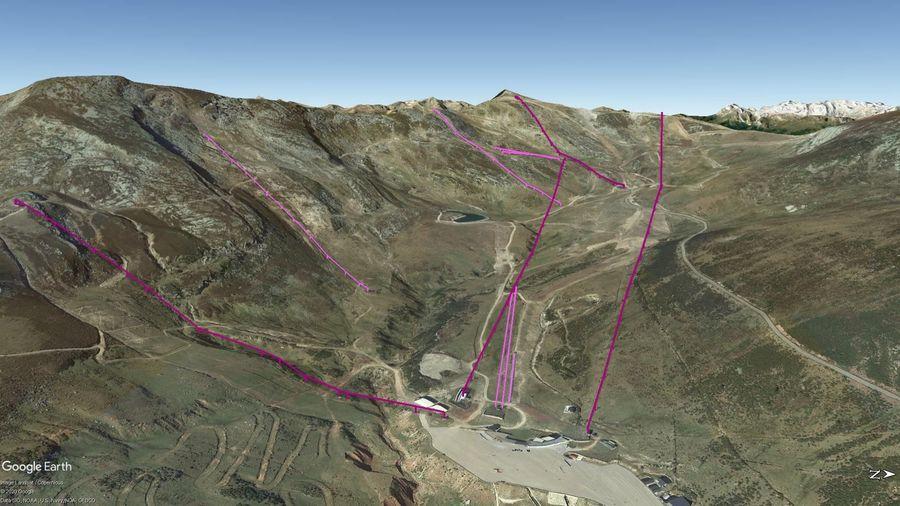 Vista Google Earth Alto Campoo Temporada 2020/21