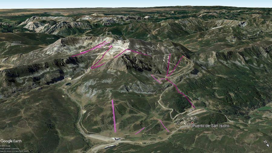 Vista Google Earth San Isidro + Fuentes de Invierno