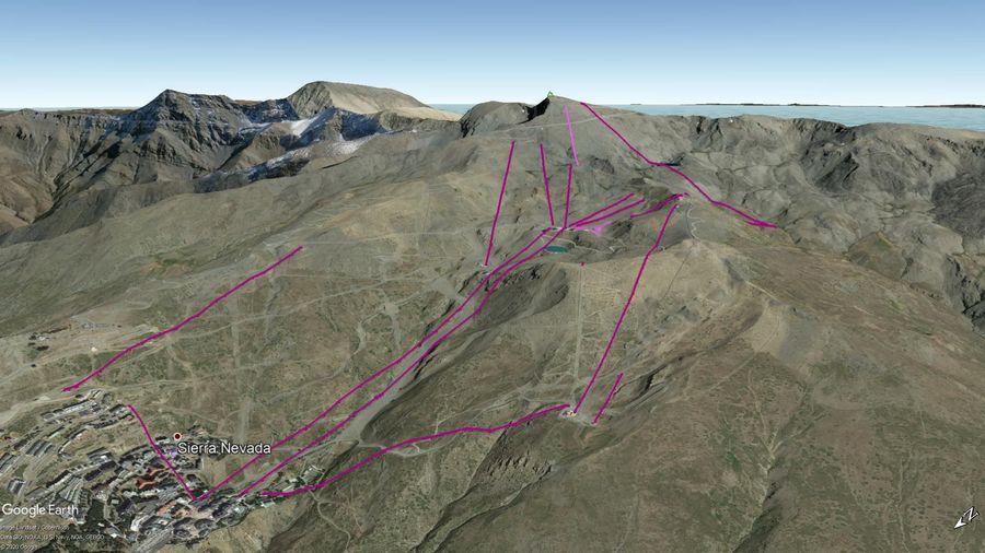 Cuadro Remontes Mecánicos Sierra Nevada 2020/21