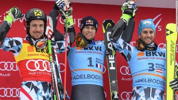 Pinturault gana el Gigante de Adelboden y Hirscher su podio 100