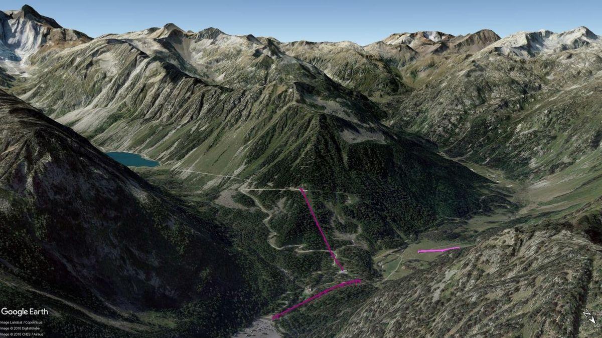 Vistas Google Earth Cauterets -Pont d'Espagne- 2018-19