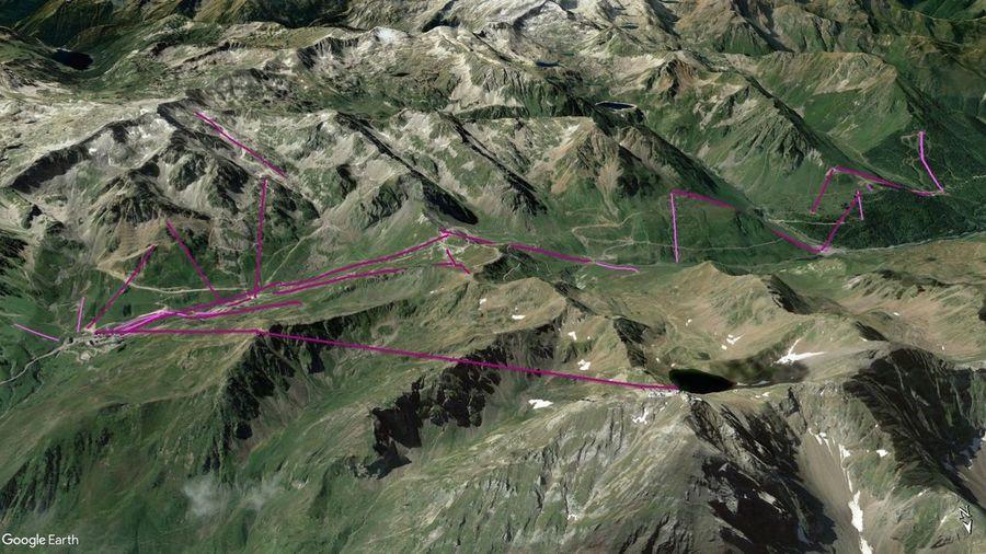 Vistas Google Earth Gran Tourmalet 2018-19