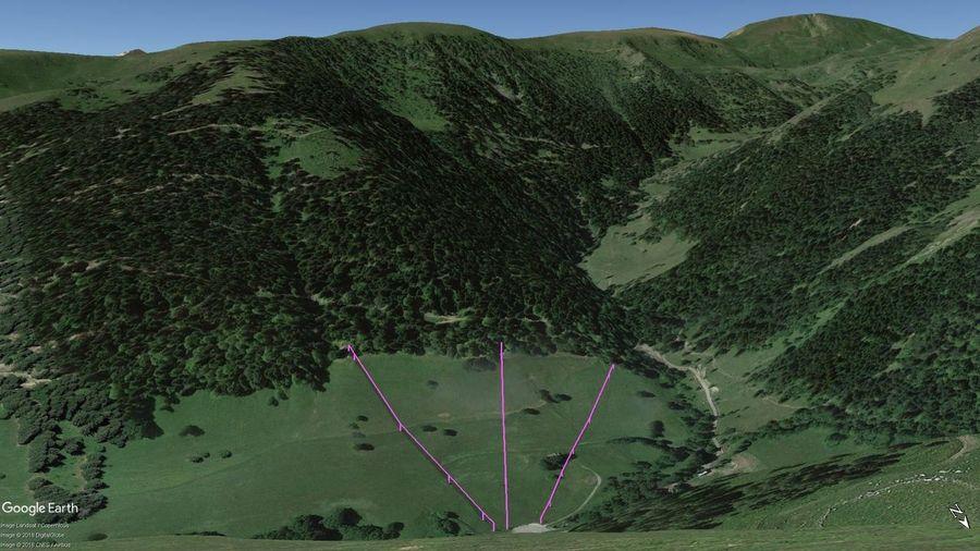 Vistas Google Earth Bourg d'Oueil 2018-19