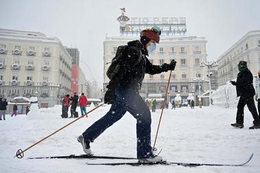 El día que la ciudad de Madrid se convirtió en una enorme estación de esquí