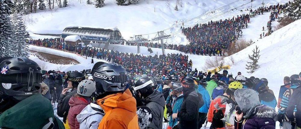 Vail registra las colas de esquiadores más grandes del mundo