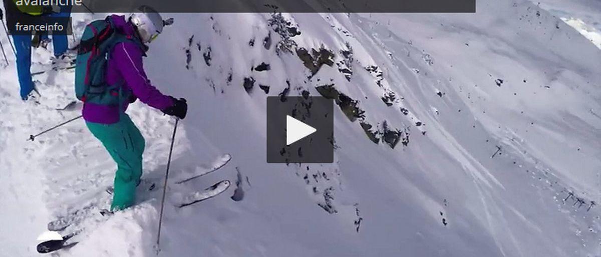 Enterrado bajo una avalancha, filma su propio rescate