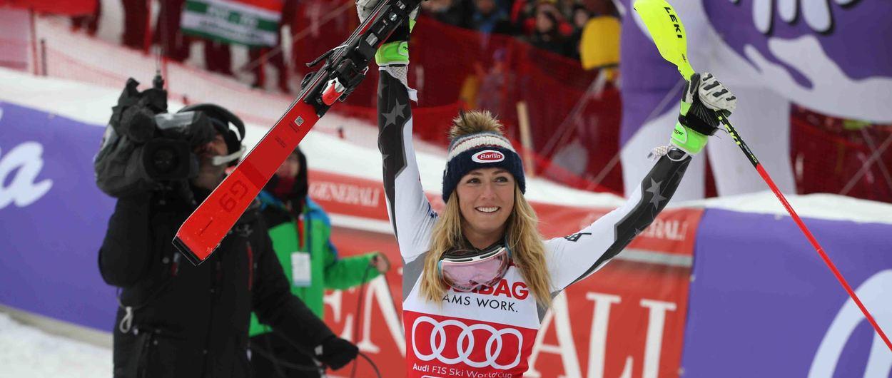 Mikaela Shiffrin bate el record histórico de victorias en una temporada