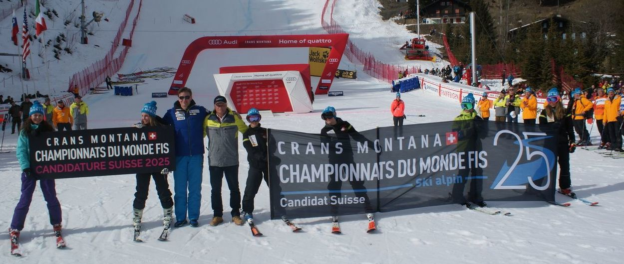 Crans-Montana será candidata a los Mundiales de Esquí Alpino 2025