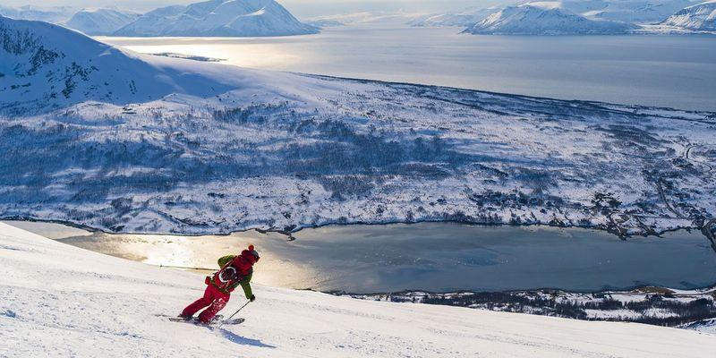 Los dos esquís por un lado del árboooool: ¡¡BIEN!!