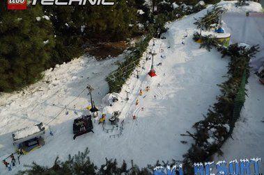 Una obra de arte en forma de estación de esquí