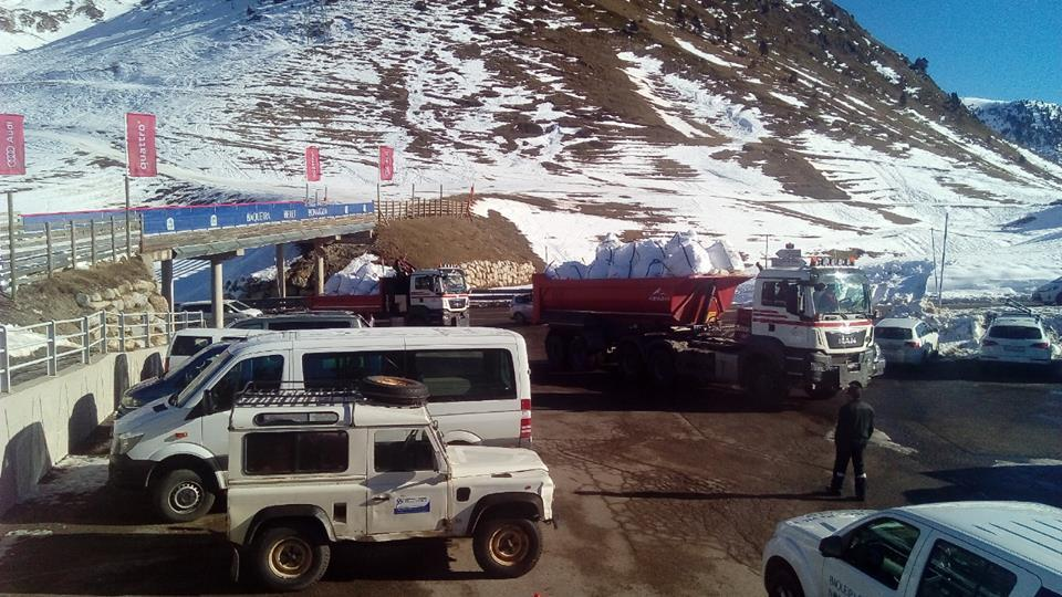 Transporte nieve Baqueira