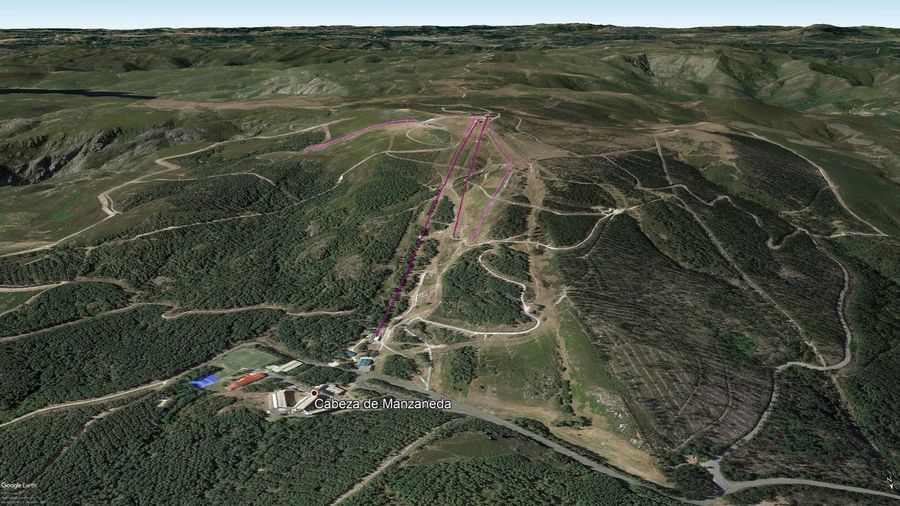 Vista Google Earth Manzaneda 2019/20