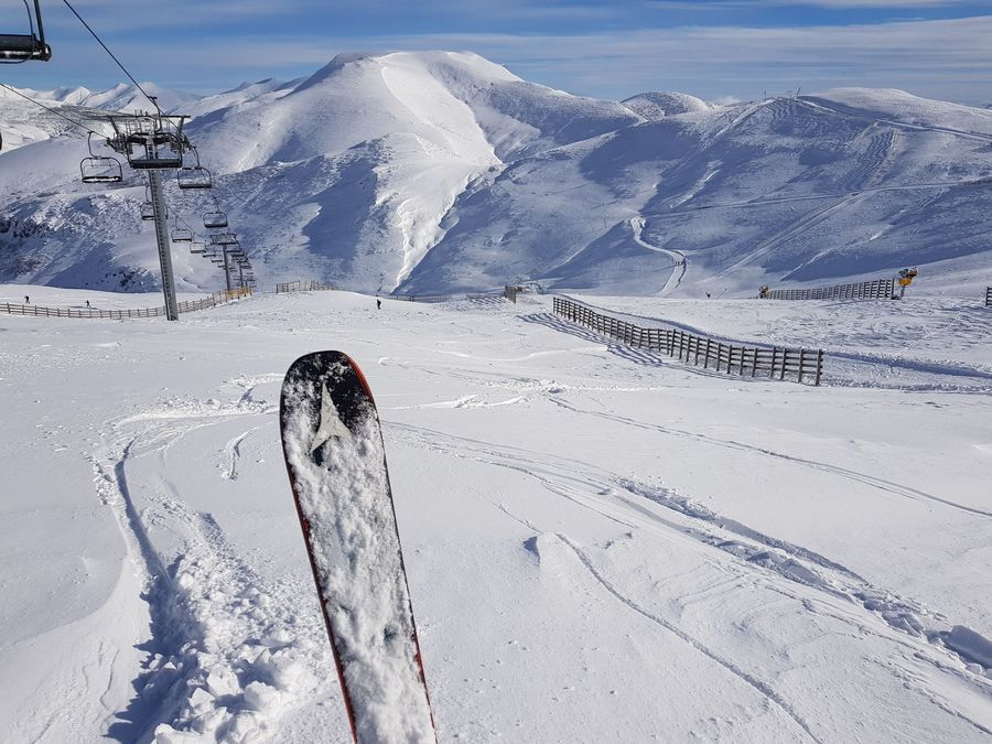 Essquiando en Pajares Diciembre 2020