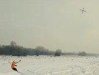 El nuevo deporte de nieve se llama Droneboarding