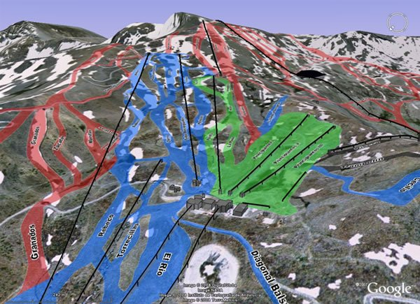 Mapa De Pistas Interactivo En 3d De Sierra Nevada El Mirador Blanco Nevasport Com
