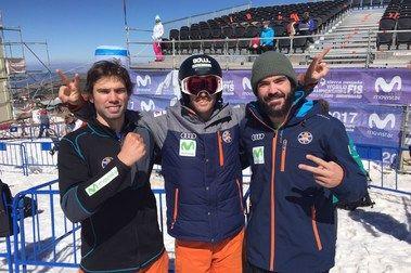 Los tres españoles pasan a las finales de SBX en SN 2017
