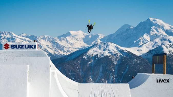 Andri Rafetti realizó el primer Quad Cork 1800 completo en esquís
