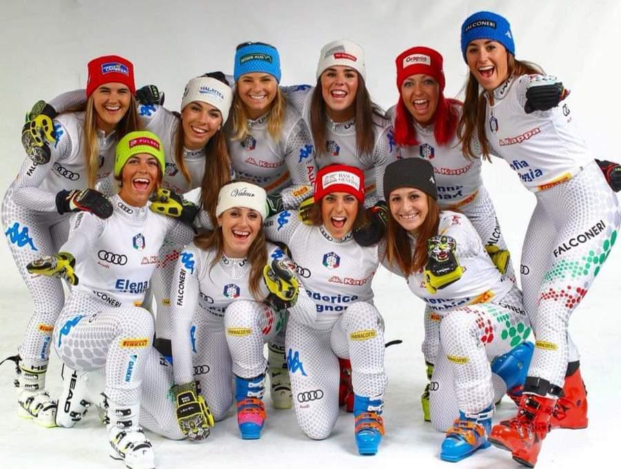 Italia equipo femenino esqui