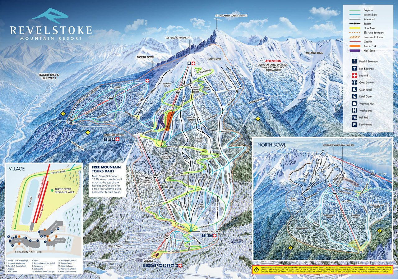 Mapa de Revelstoke