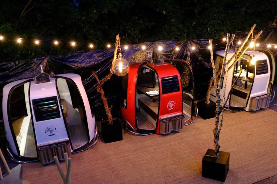 Cabinas vintage comedor