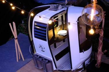 Cabinas de esquí para comer en la era COVID-19