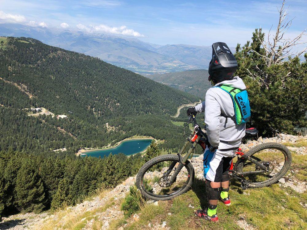 En el bikepark de La Molina en verano de 2018 (Foto: Ivan sanz).