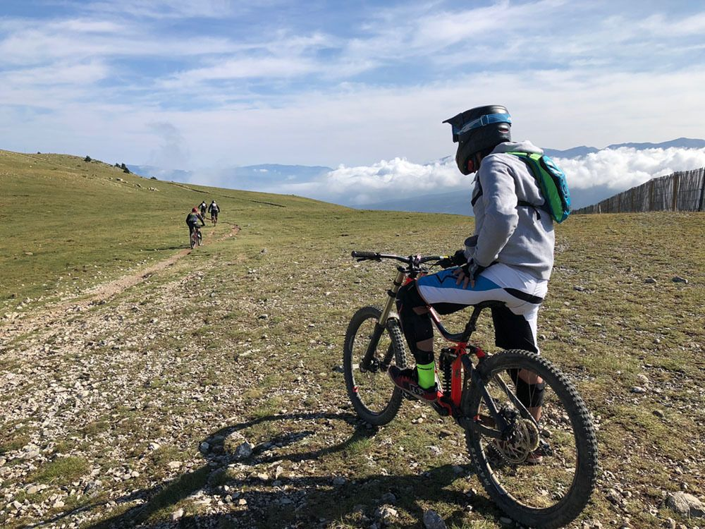En el bike park de La Molina en verano de 2018 (Foto: Ivan Sanz).