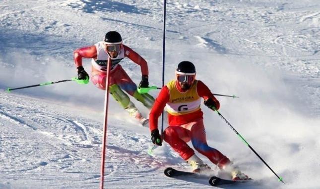 Fotografía de Jon y MIguel en un descenso