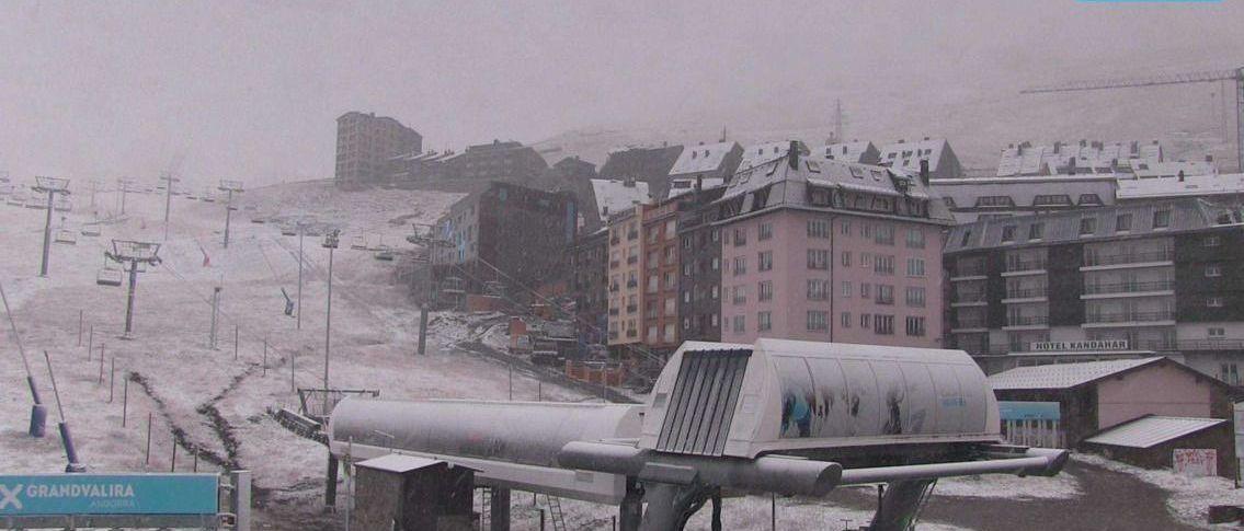 Grandvalira recibe sus primeras nieves de la pre-temporada