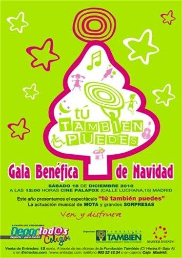 Fotografía del cartel de la gala