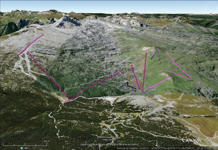 Vistas Google Earth La Pierre St Martin 2015-16