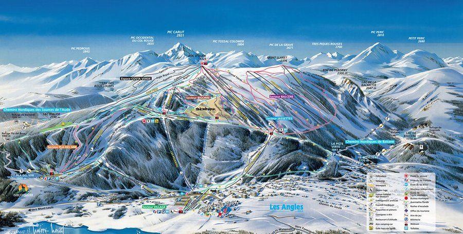 Mapa de pistas de Les Angles