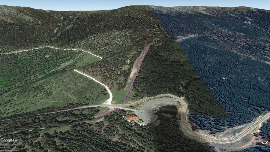 Vista Google Earth Santa Inés Temporada 2020/21