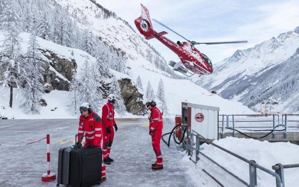 Helicóptero en Zermatt