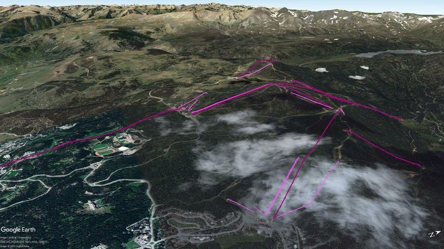 Vistas Google Earth Font Romeu - Pyrénées 2000 2018-19