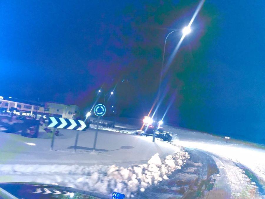 maquina pisapistas de madrid snowzone por las calles de Arroyomolinos