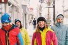 La novia ideal de los muy aficionados al esquí