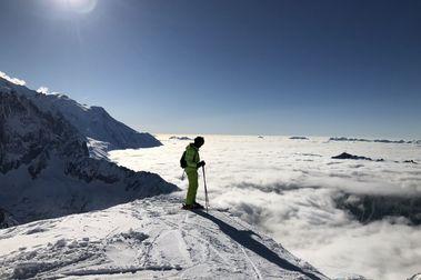 La montaña te hace humilde, pequeño, insignificante